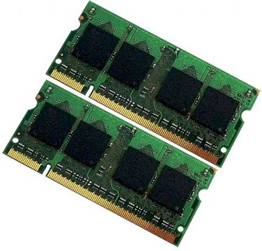 2gb (2x1gb) PC2 5300 DDR2 667 SODIMM Laptop RAM for Macbook Pro Lenovo F41 y410 3000 Mint