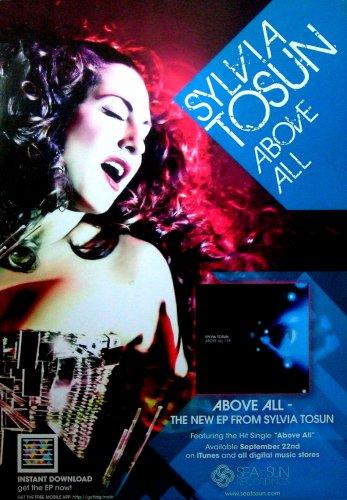 """Sylvia Tosun * ABOVE ALL * Original Music Poster 14"""" x 22"""" Rare 2010 Mint"""