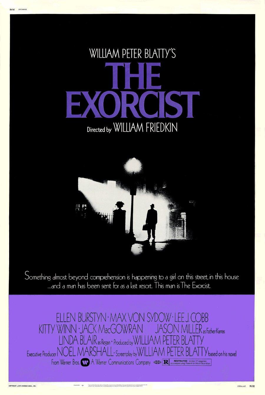 "Friedkin's THE EXORCIST Original Movie Poster * Linda Blair * 27"" x 40"" Rare 1973 Mint"