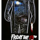 "FRIDAY THE 13th Original Movie Poster * Kevin Bacon * 27"" x 40"" Rare 1980 Mint"