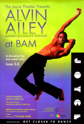 Alvin Ailey Dance * BAM NYC * Joyce Theater Poster 2' x 3' Rare 2008 Mint