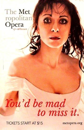 Metropolitan Opera Original Poster NATALIE DESSAY Met NYC 2007 ~ 2008 Season 2' x 3' Mint