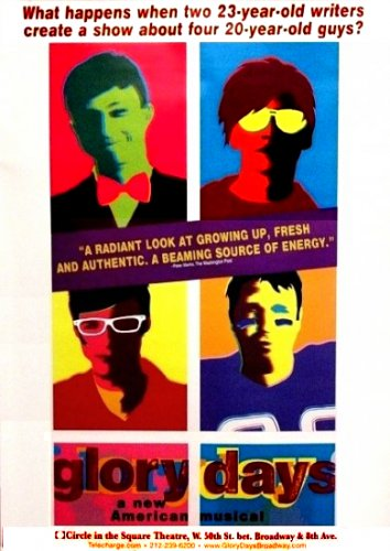 GLORY DAYS Broadway Poster 3' x 4' Rare NEW 2008