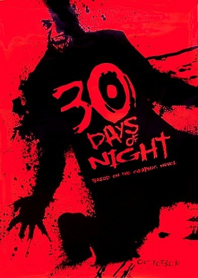 30 DAYS OF NIGHT Original Movie Poster * Josh Hartnett  * Huge 4' x 6' Rare 2007 Mint