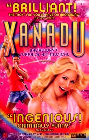 "XANADU Original Broadway Poster NYC * Kerry Butler * 14"" x 22"" MINT 2008"