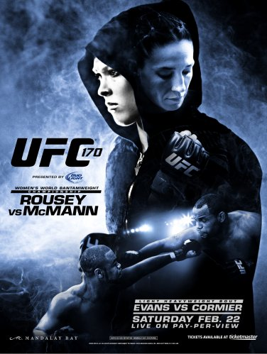 UFC 170 Rousey vs. McMann Mixed Martial Arts Championship Original Poster 2' x 3' Rare 2014 Mint