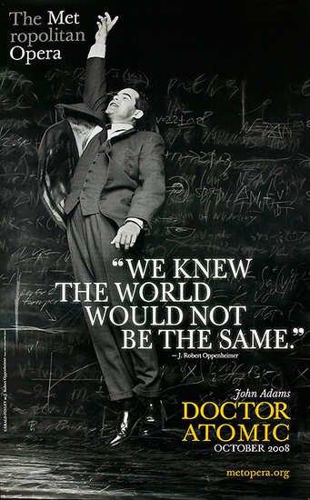 John Adams DOCTOR ATOMIC Original MET Opera Poster * POSITIVE * Huge 4' x 6' Rare 2008 Mint