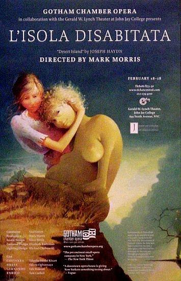 "Mark Morris * L�isola disabitata (Desert Island) * Opera Poster 14"" x 22"" Rare 2009 MINT"