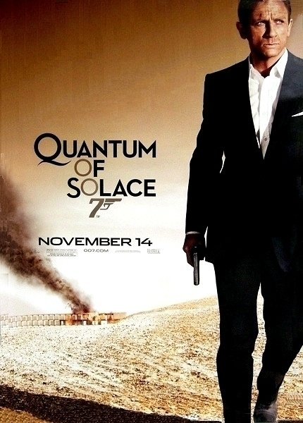 James Bond 007 QUANTUM OF SOLACE Movie Poster * DANIEL CRAIG * 4' x 6' Rare 2008 NEW