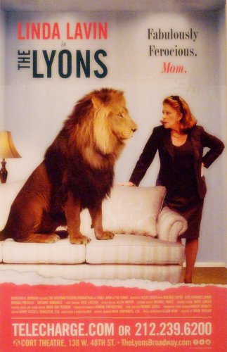 "The Lyons Original Broadway Theater Poster *LINDA LAVIN* 14"" x 22"" Rare 2012 Mint"