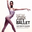 NYC BALLET Poster * WINTER SEASON * 2' x 3' Rare 2009 Mint