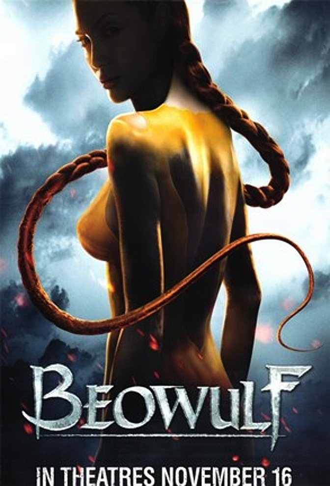 BEOWULF Movie Poster * QUEEN of DARKNESS * Angelina Jolie 4' x 6' Rare 2007 MINT