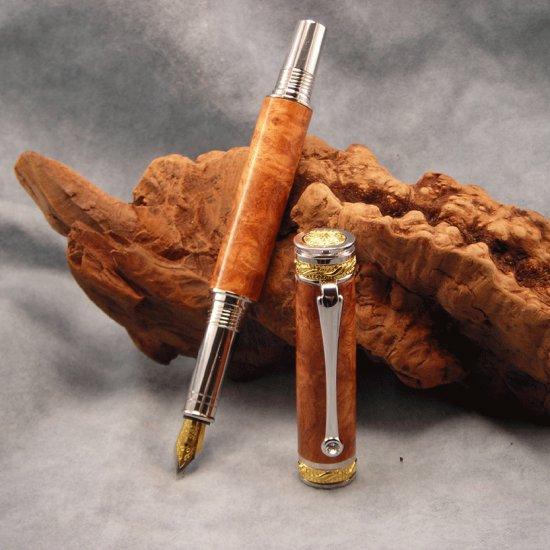 PIcasso Fountain Pen - Amboyna Burl