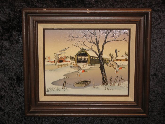 H. Hargrove Signed Serigraph