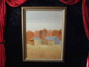 Canvas Oil Painting, Signed Oswald, Dated '88