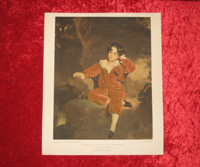 Thomas Lawrence, Vintage Print, Printed in England