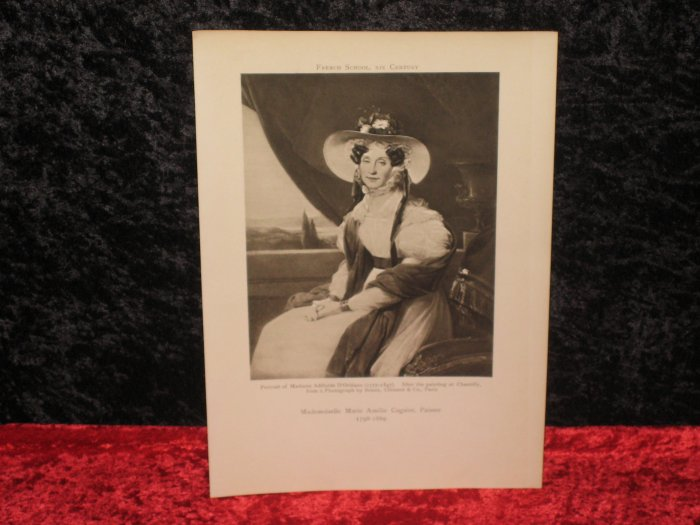 Cogniet, victorian vintage print, actually printed in 1905