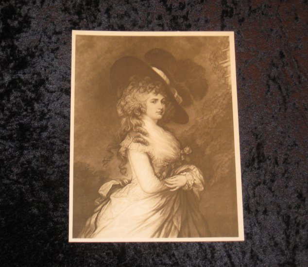 Gainsborough, vintage print gravure, actually printed in 1901