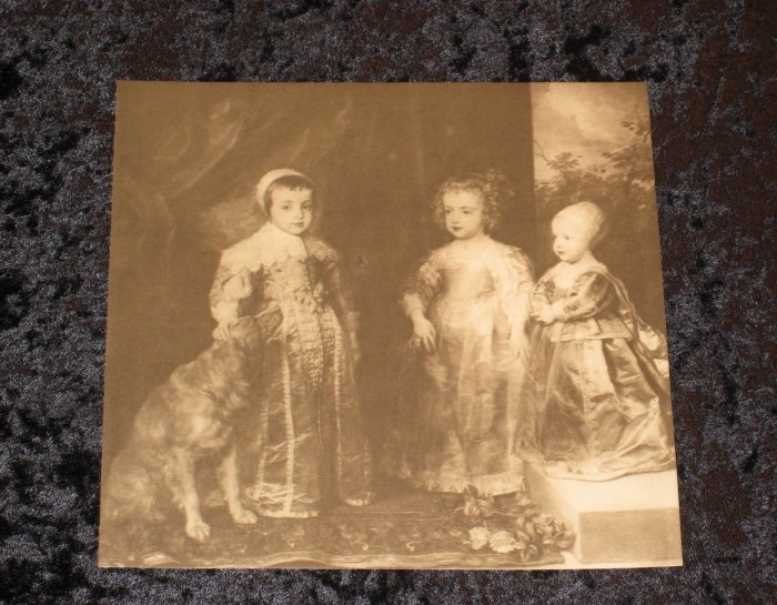 Anthony van Dyck , Antique Victorian Print, actually printed in 1901