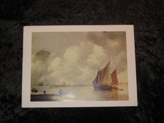Van Goyen, new nautical print, 12""