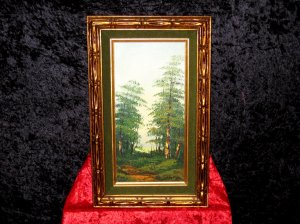 Oil Canvas Painting, Landscape, Signed D.Tan