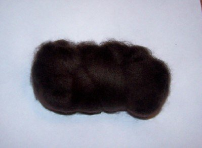 Chocolate Brown Wool for Doll Hair