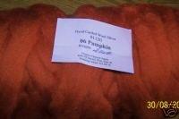 """48"""" Pumpkin Dyed Corriedale Wool Spinning Felt Fiber"""