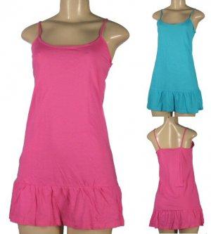 Softwear - Junior Spaghetti Strap Flared Hem Stretch Nightie/ Dresses