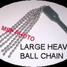 "20"" METAL BALL CHAINS CROP WHIP"