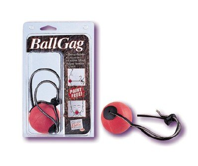 RED RUBBER BALL GAG  - FREE SHIPPING