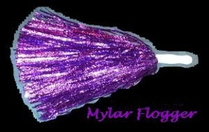 MYLAR FOIL FLOGGER ~MANY COLORS TO CHOOSE FROM   -- FREE SHIPPING AND HANDLING!