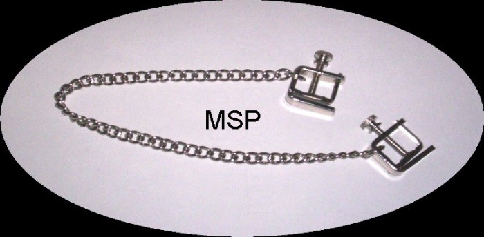 SCREWnSQUEEZE COLD HARD METAL NIPPLE CLAMPS