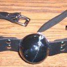 JET BLACK JELLY GAG ~LEATHER WITH BUCKLE