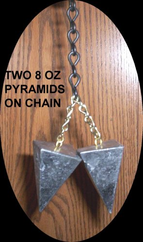 WEIGHT SET ON CHAIN FOR PARACHUTE BALL STRETCHER ~ ONE POUND!