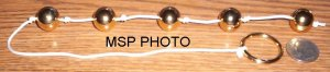 SHINY GOLD ANAL BEADS W/ PULL RING ~FREE SHIPPING