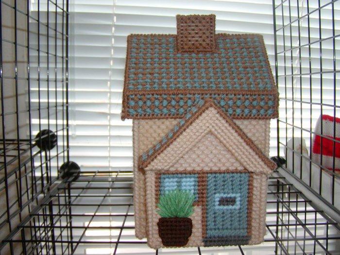 Tan Plastic Canvas House