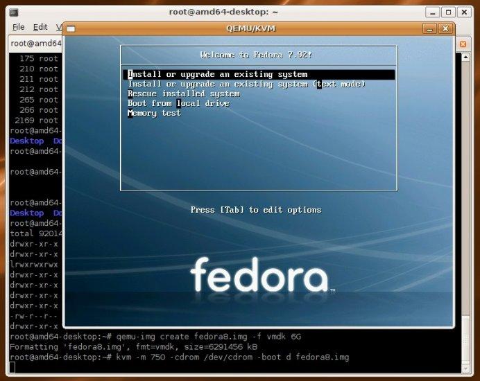 Fedora 8 i386 Linux