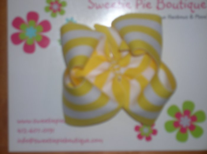 Yellow & White Stripe Basic Boutique
