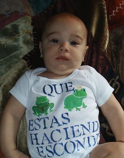 Baby Onesie Spanish Frogs Newborn