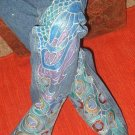 Peacock Hand Painted Jeans size 6