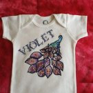 Baby Onesie Girl Customized Name 6-9  months
