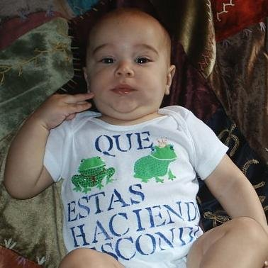 Baby Onesie Spanish Frogs 3-6  MONTHS