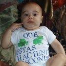 Baby Onesie Spanish Frogs 12  MONTHS