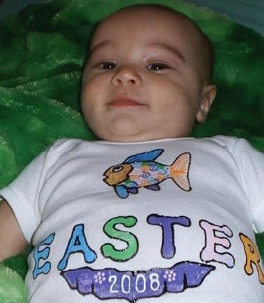 Baby Onesie Easter 2008 NEWBORN