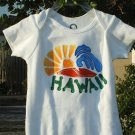 "Baby Onesie Boy Hand painted "" HAWAII"" size NEWBORN"