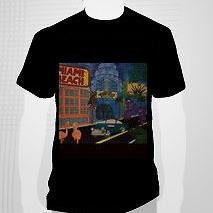 From Miami Beach to the world on a black  tee shirt men LARGE