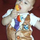Hand Painted Baby Bodysuit Wrapped as Candy- Working 9 to 5 - Gift ready to Give-size 6-9 months
