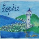 Sophie - Name Collection hand painted baby onesie, customized size NEWBORN
