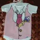 Hand Painted Baby Bodysuit Girl - Wrapped as Candy- Working 9 to 5 - Gift ready to Give-6-9 MOS.
