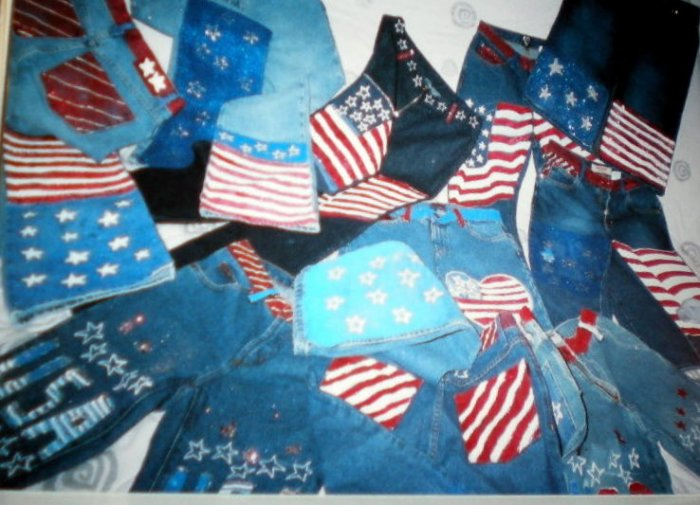 Americana Hand Painted JEANS